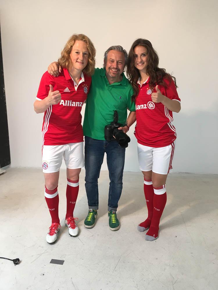 Olympiasiegerinnen des FC-Bayern im Ring Studio
