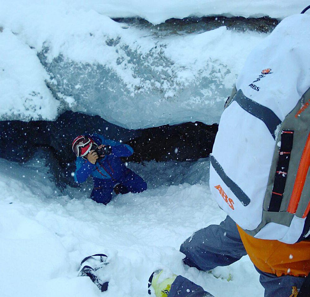 Grüße aus der Gletscherspalte