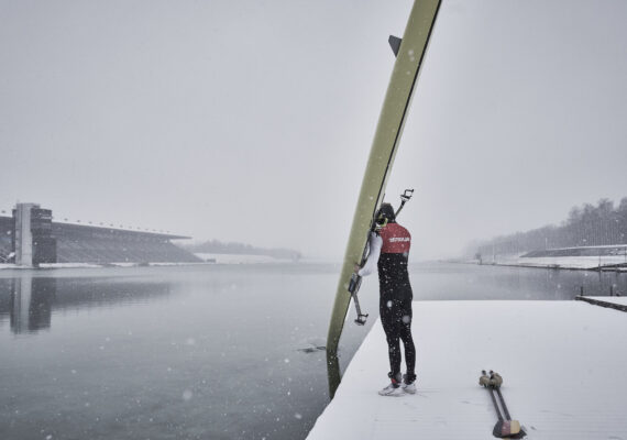 Scullers love snow!